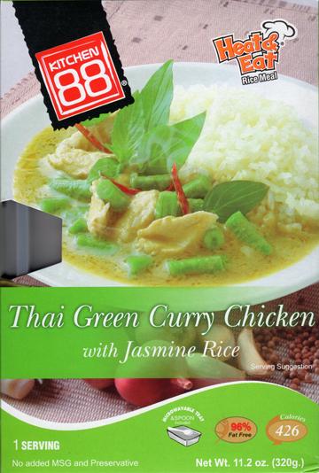 Thai Green Curry Chicken With Jasmine Rice Kitchen 88